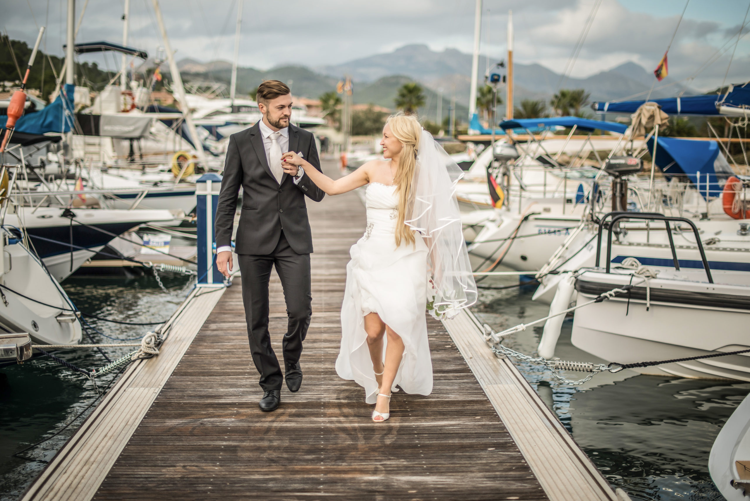 Brautpaar am Hafen hochzeitsfilm hochzeitsvideograf